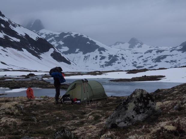 Bivouac in the wild Koldadalen